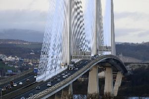 The Queensferry Crossing wasa closed to traffic due to the danger of falling ice