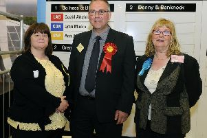 Bo'ness and Blackness councillors Ann Ritchie SNP, David Aitchison LAB and Lynn Munro CON
