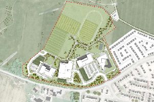 The site plan for the new Winchburgh schools.