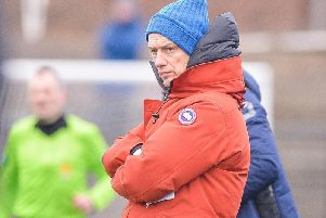 Boness United manager Max Christie surveys the wreckage of last weekends shock 2-1 home defeat by lowly Whitehill Welfare