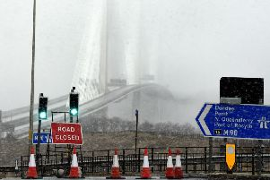 Pic Lisa Ferguson  11/02/2020''The Queensferry Crossing was closed for the first time since it opened in 2017 after ice and snow fell from cables on to the carriageway.