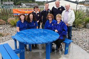 A celebratory fish and chip lunch awaits for members of Stonehaven's Lion Club, the Horizon Group and Jim Cattanach, who all contributed to the the Wave Garden's new look.