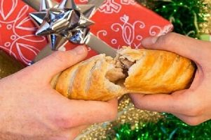 Mince pies and sausage rolls - Greggs advent calendar with a difference