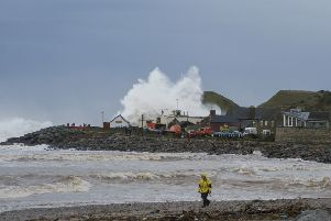 Coastal storms at Stonehaven. Picture: Aberdeenshire Council.
