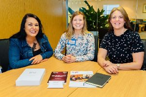 Left to right Aileen Merchant, Angela Kinghorn and Stacy Edghill