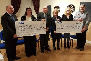 The cheques were handed over at a presentation ceremony in Stonehaven
