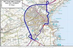 Stonehaven road closed due to subsidence