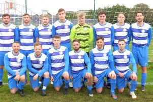 Cowie Thistle before their Scottish Amateur Cup second round 2-1 win at St Rochs