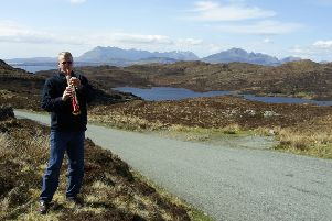 Ian practicing on the Isle of Skye