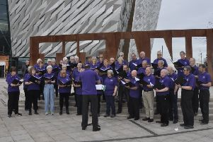 The Edinburgh Kevock Choir performing in Belfast
