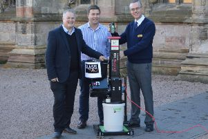 David Peters and Bran Jankovic, of Saltire Hospitality, with Ian Gardner, right, of Rosslyn Chapel Trust.