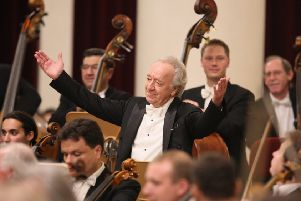 Chief Conductor Yuri Temirkanov (Photo by Stas Levshin)