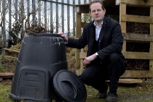 Pic Lisa Ferguson 21/01/2019: ''Stuart Forbes''' of Mayfield and Easthouses Development Trust - which is to run a workshop on composting garden waste on February 2, given the controversy surrounding the brown bin charge.