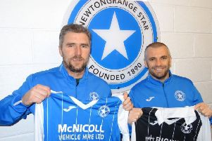 New Newtongrange Star co-managers Kenny Rafferty and Darren Smith (picture: Newtongrange Star)