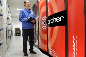 The first ARCHER super computer, pictured, was launched at Easter Bush in 2014.