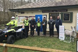 The launch of the 2019 Rural Crime Initiative at The Pentland Hills Regional Park.
