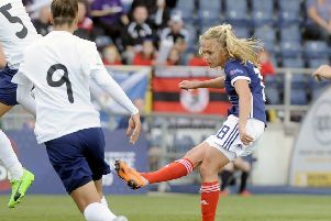 Claire Emslie in action for Scotland (picture: Michael Gillen)