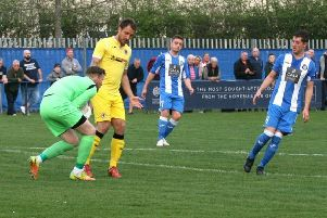 Action from Penicuik Athletic 2-4 Bonnyrigg Rose in the East of Scotland League Cup (picture: Jim Dick)