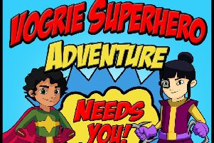 Poster for Vogrie Superhero Adventure at Vogrie Country Park.