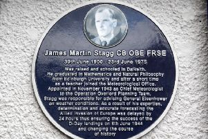 Unveiling of plaque to James Stagg in Dalkeith -
