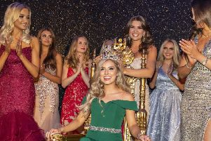 Miss Scotland 2019 Keryn Matthew is crowned by Linzi McLelland, Miss Scotland 2018.''Pic:Andy Barr''www.andybarr.com