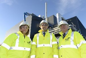 Environment leaders from the City of Edinburgh and Midlothian Councils pictured at FCC Environmental plant in Millerhill earlier this year.