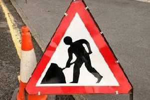 Road closure near Penicuik