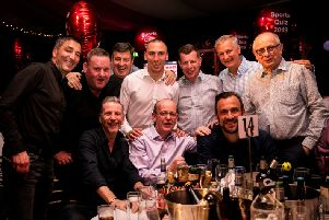 Celtic captain Scott Brown with his team at Edinburgh Children's Hospital Charity's annual Sports Quiz