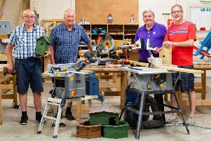Roslin Men's Shed (l-r) John Currie, Stewart McLean, Richard Price and Jim Hiddleston. Pic: Ian Georgeson