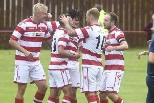 Rose are top of the Lowland League on goal difference after Tuesday night's 5-3 win at Berwick Rangers