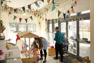 A playroom at one of Midlothian Sure Start's centres.