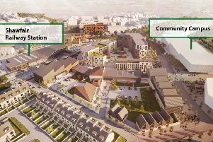 A contextual image of the town centre provided by Shawfair LLP.
