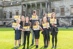 Midlothian's Young People Awards ceremony at Penicuik House, winners Daisy Mabon, Sophie McDonald. Esther Johnston, Isla Rose Mckenzie, runner up Chloe Lewis, runner up Craig McBeth, Tilly Bee and Chelsey Pinkman.