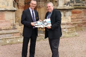 Ian Gardner, Director of Rosslyn Chapel Trust with Malcolm Roughead, Chief Executive of VisitScotland