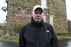 Pic Lisa Ferguson  12/11/2019'''Robert Hogg chairman of Mayfield and Easthouse Community Council outside the old Rowantree pub in Mayfield.