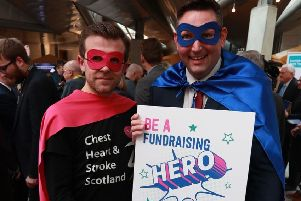 Lawrence Cowan, Director of Communications at Chest Heart & Stroke Scotland with Miles Briggs MSP (right).