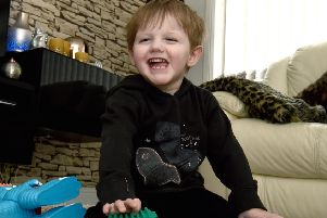 Four-year-old Lyle Cornet lives with incurable brain tumours.