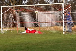Stewart's shot hits the Kinnoull net for the game's only goal.