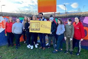 Cabinet Secretary for Justice Humza Yousaf visited the Y2K project in Mayfield to meet with young people from the 180 service which will benefit from the funding over the next 3 years 2020-23.