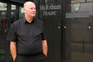Councillor Derek Milligan outside Midlothian House in Dalkeith.