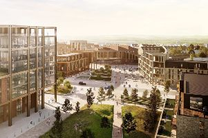 The proposed development plans for Shawfair see 4,000 new homes, businesses and retail outlets in a landscaped environment surrounding a new town centre and railway station.