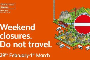 Network Rail and train operators are reminding passengers not to travel to/from London on the East Coast Main Line this weekend.