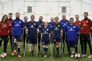 The Scotland amputee football squad all set to take on the Netherlands this Saturday.