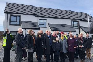 Bruce Crawford MSP officially opening the new RSHA housing site at Killearn.