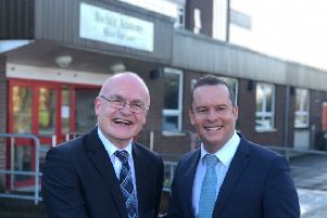 Joint council leaders of East Dunbartonshire Council, Councillor Vaughan Moody and Councillor Andrew Polson