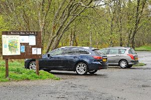 The car park area at Drumclog Moor.