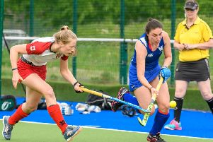 McKenzie Bell in action for Scotland (pic courtesy of Scottish Hockey/Duncan Gray)