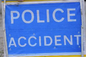 Emergency services rush to road smash at Lennoxtown yesterday (Monday)