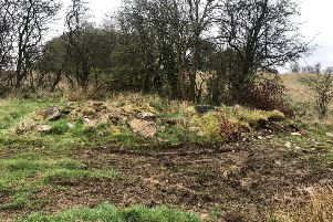 Part of the Antonine Wall site at land at Bearsden Golf Club