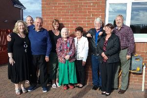 The extended family of James Forrest are brought together by the TV show Heir Hunters including half siblings  Maureen Armstrong (second, right), Ian Cunningham (third, right) and Christine Robertson (centre)